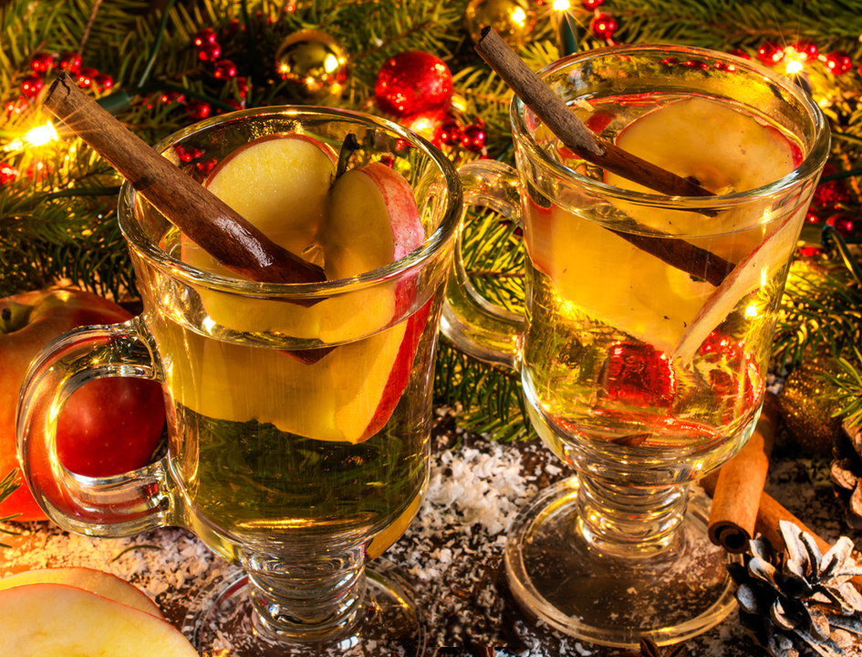 Glasses with Mulled Cider