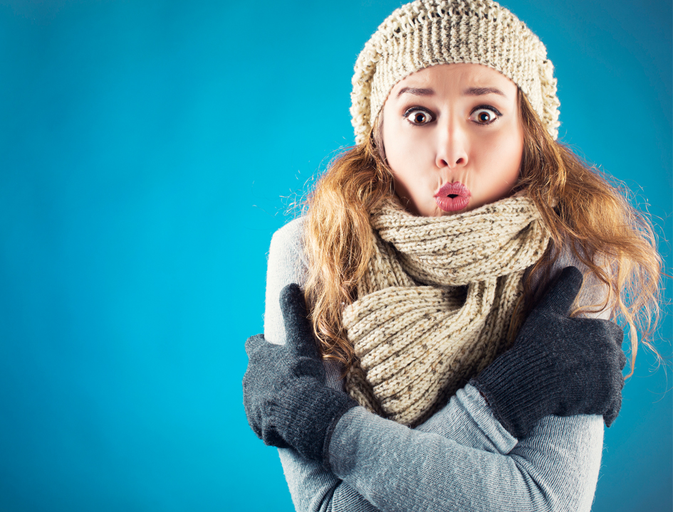 women with scarf Cold and Flu Season