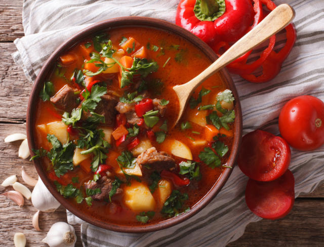 A pot on the table mulligan stew recipe
