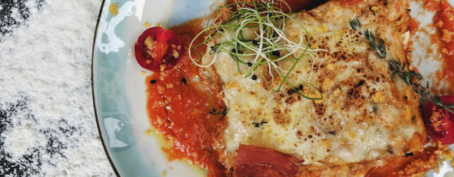 plate of Gluten-Free Vegetarian Lasagna