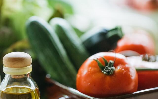 zucchini and tomato in bowl summer zucchini salad