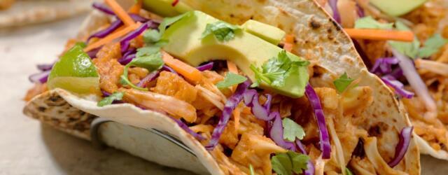 Tacos on plate jackfruit tacos recipe