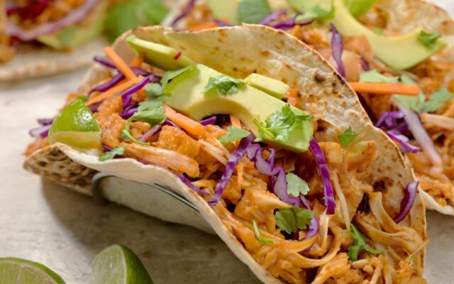 Tacos on plate jackfruit tacos recipe