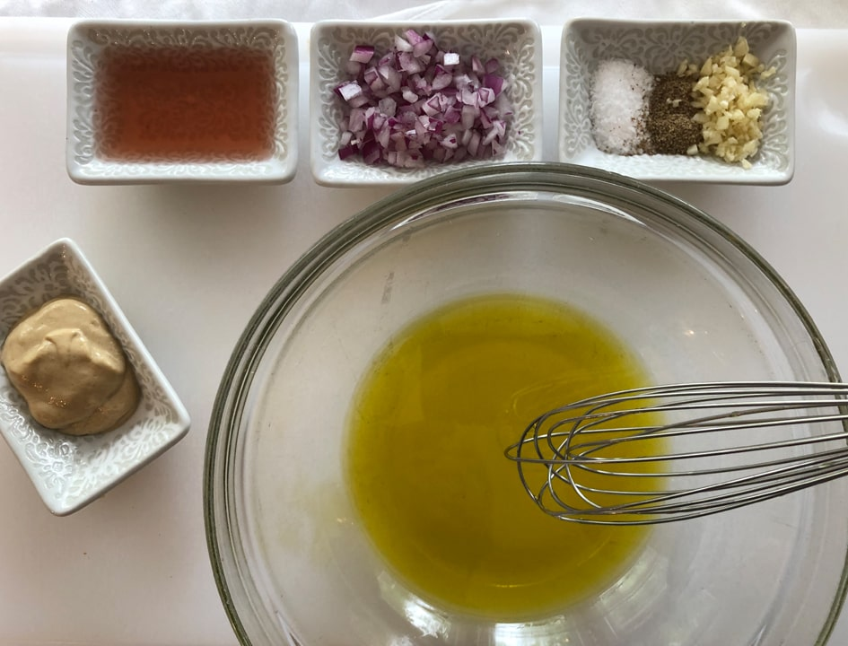 add olive oil to a bowl