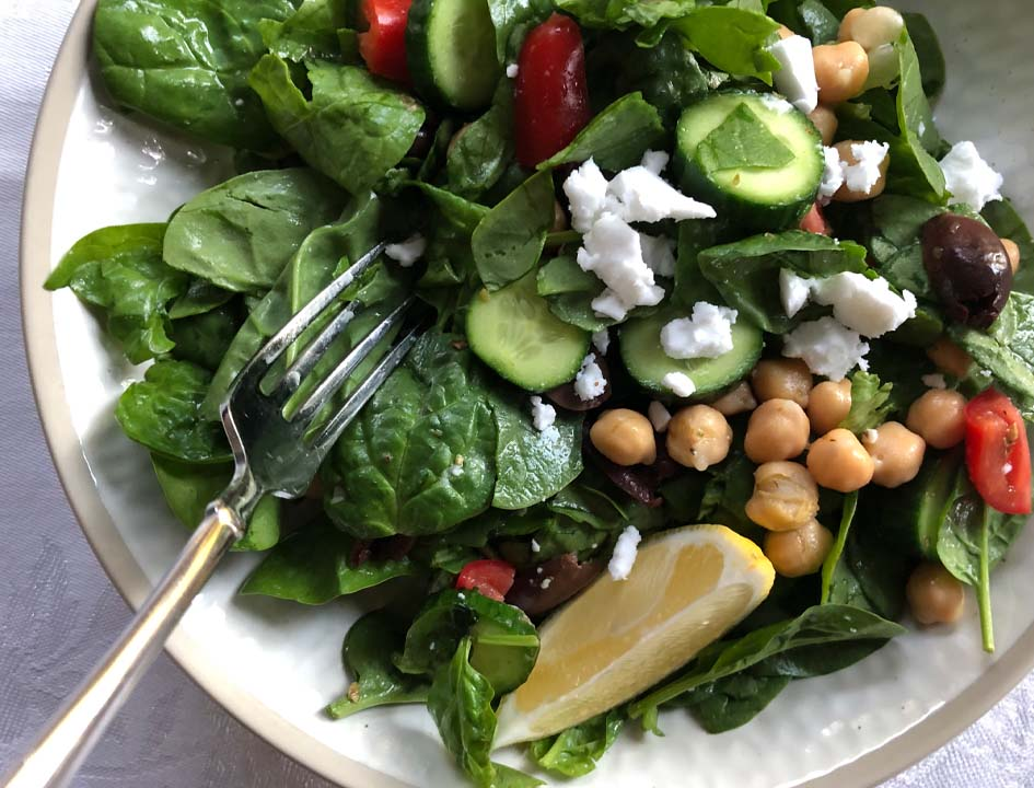 greek chickpea and feta salad