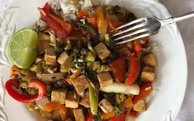 tofu bell pepper stir fry